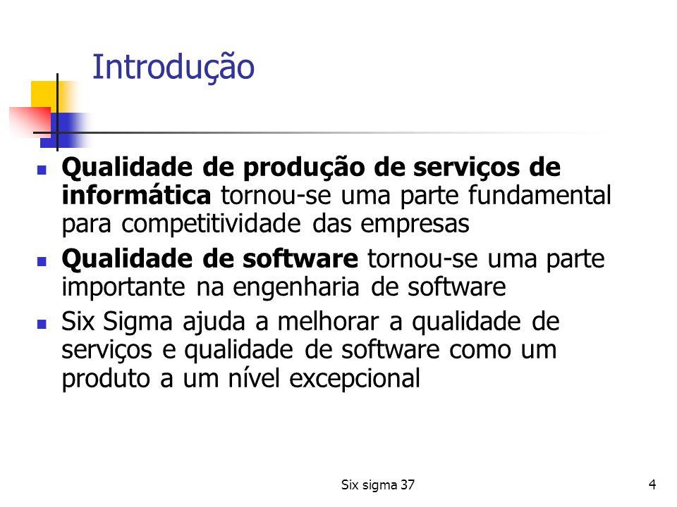 4 Introdução Qualidade de produção de serviços de informática tornou-se uma parte fundamental para competitividade das empresas Qualidade de software