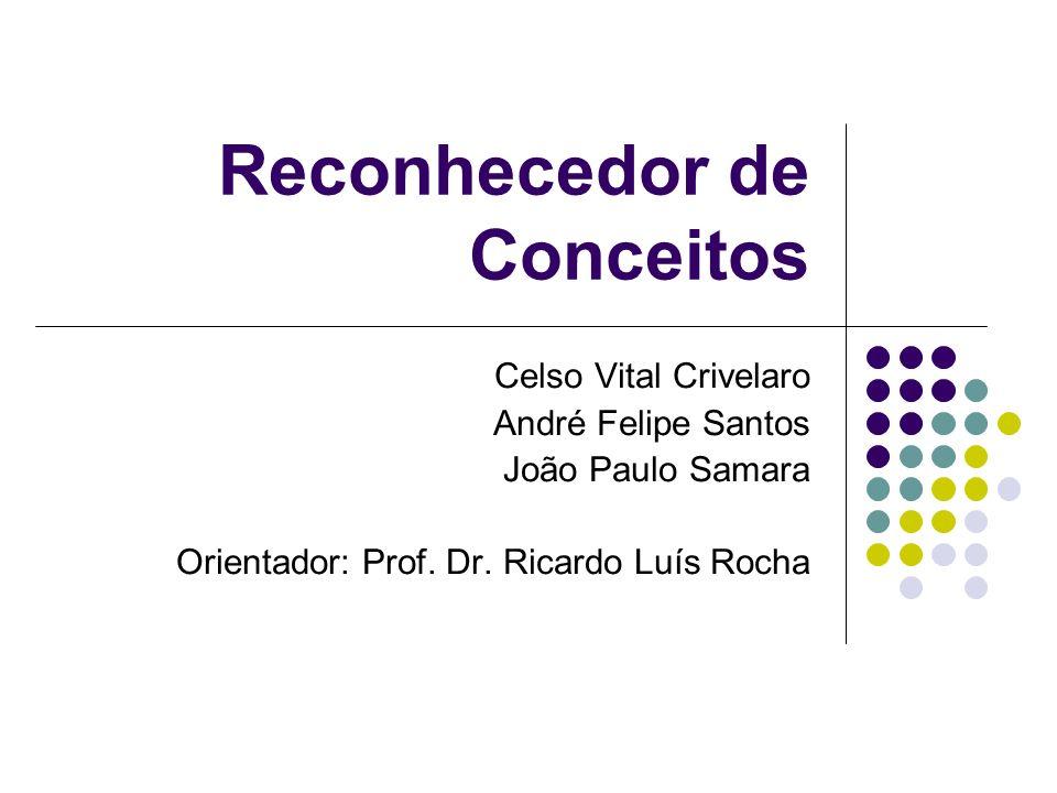Reconhecedor de Conceitos Celso Vital Crivelaro André Felipe Santos João Paulo Samara Orientador: Prof. Dr. Ricardo Luís Rocha