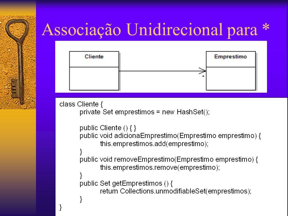 Associação Unidirecional para *