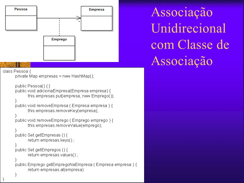 Associação Unidirecional com Classe de Associação