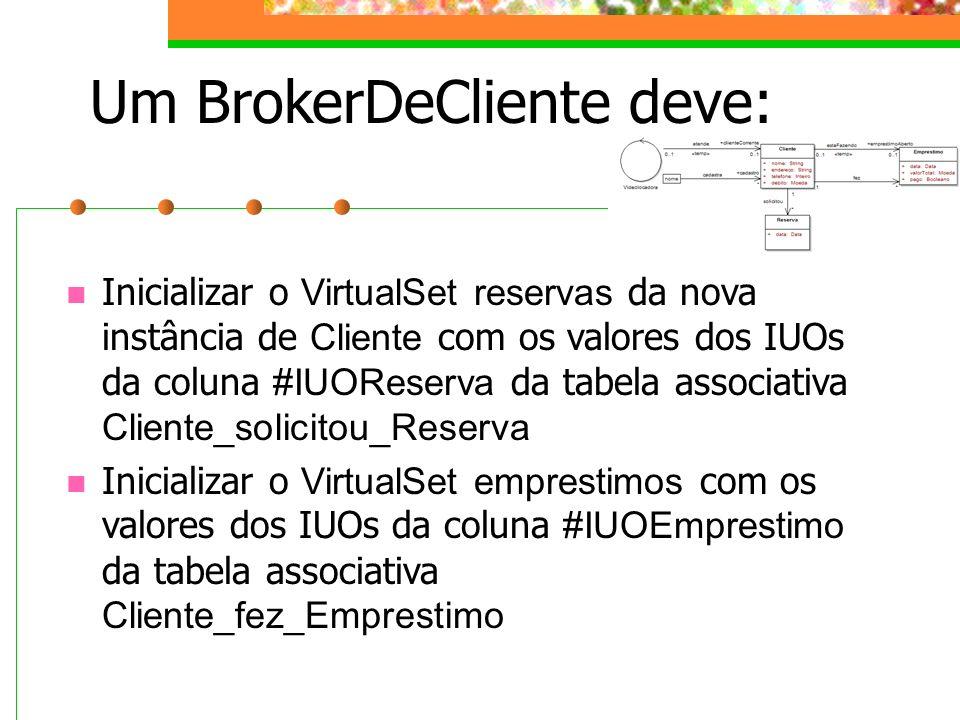 Um BrokerDeCliente deve: Inicializar o VirtualSet reservas da nova instância de Cliente com os valores dos IUOs da coluna #IUOReserva da tabela associ
