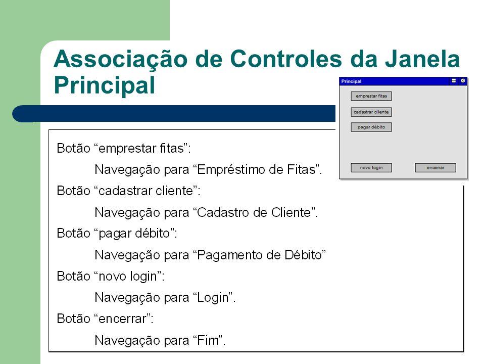 Associação de Controles da Janela Principal