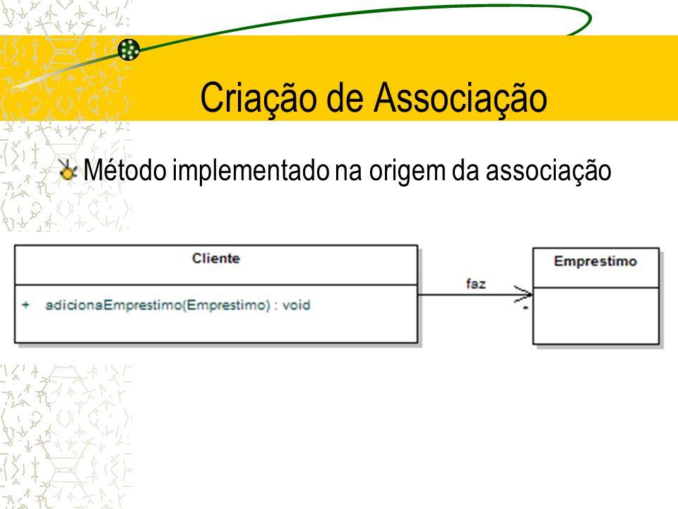 Criação de Associação Método implementado na origem da associação