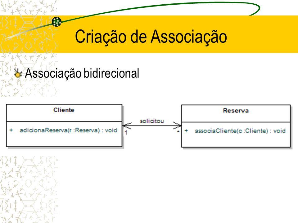 Criação de Associação Associação bidirecional