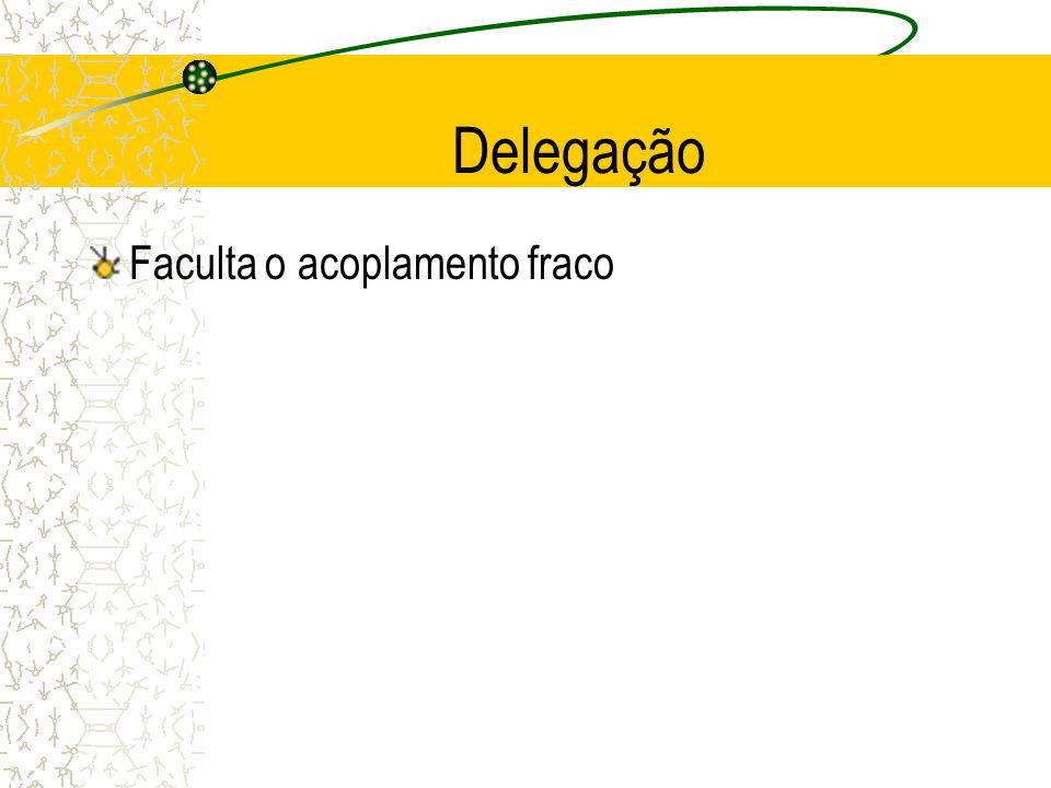 Delegação Faculta o acoplamento fraco