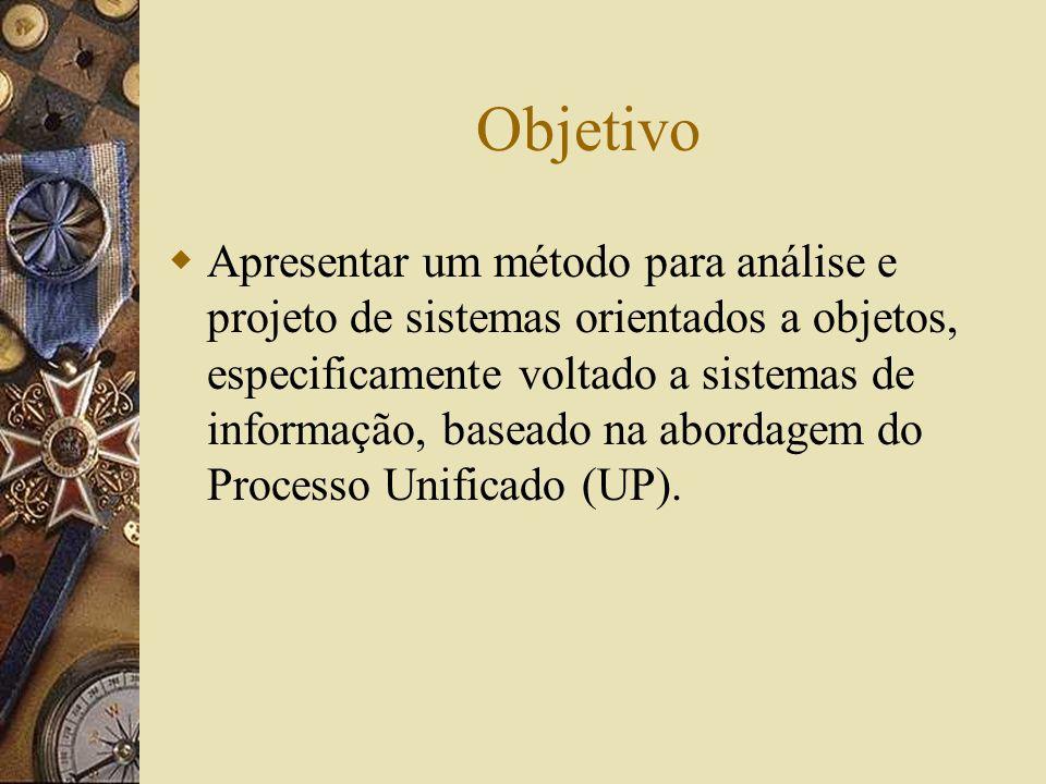 Objetivo Apresentar um método para análise e projeto de sistemas orientados a objetos, especificamente voltado a sistemas de informação, baseado na ab