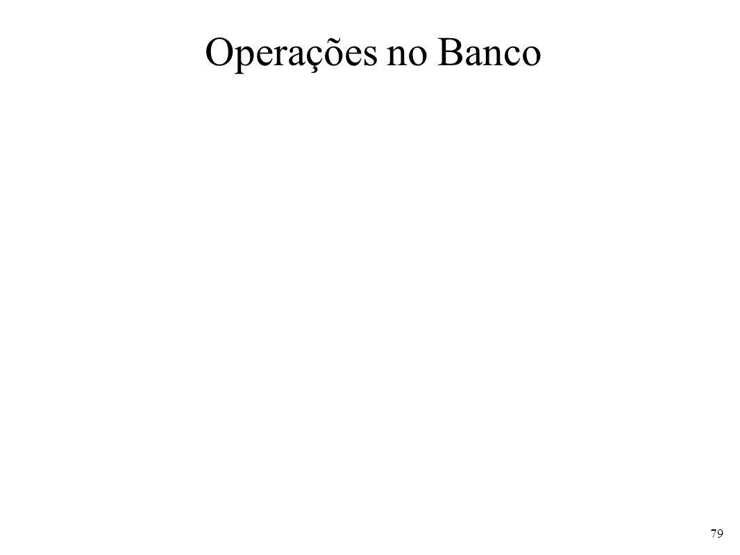 Operações no Banco 79