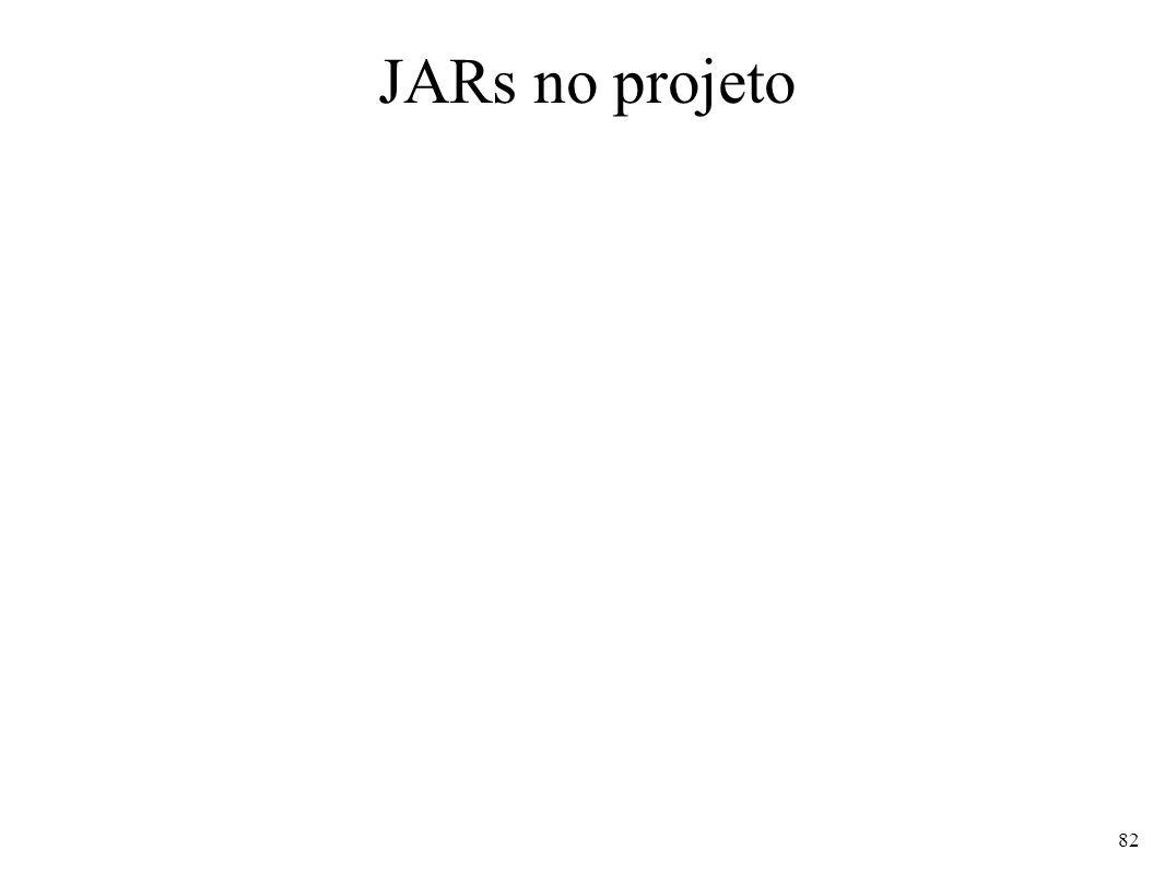JARs no projeto 82