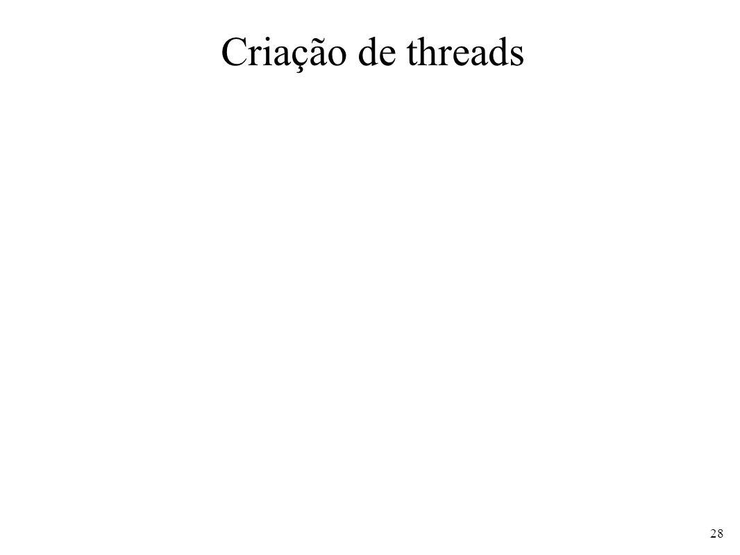 Criação de threads 28