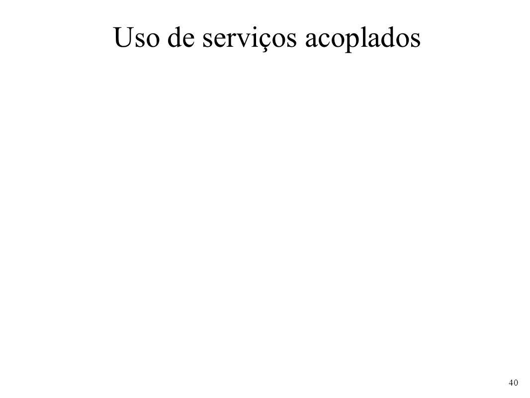 Uso de serviços acoplados 40