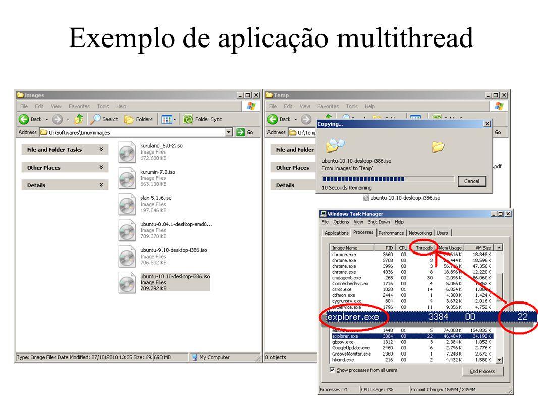 Exemplo de aplicação multithread 24