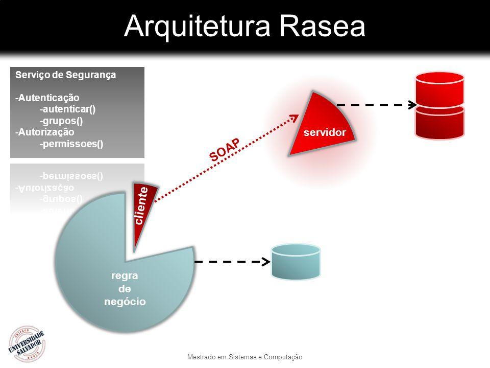 Arquitetura Rasea Mestrado em Sistemas e Computação regra de negócio cliente servidor SOAP