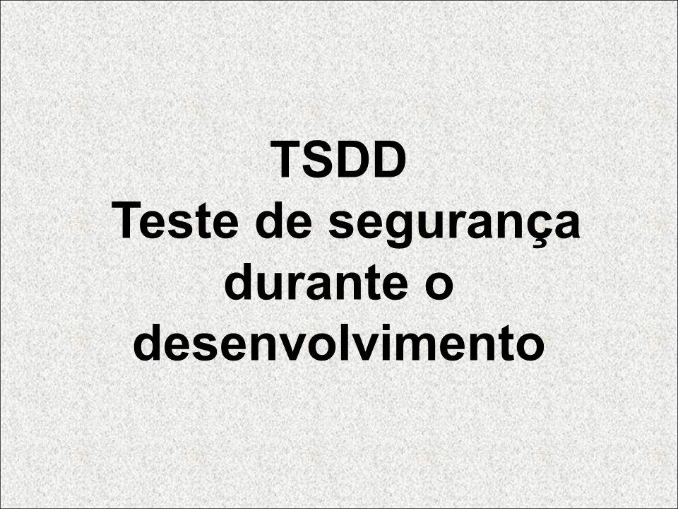 TSDD Teste de segurança durante o desenvolvimento
