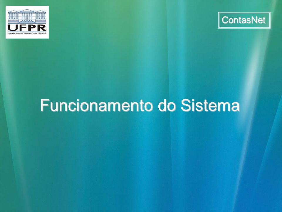 ContasNet Funcionamento do Sistema