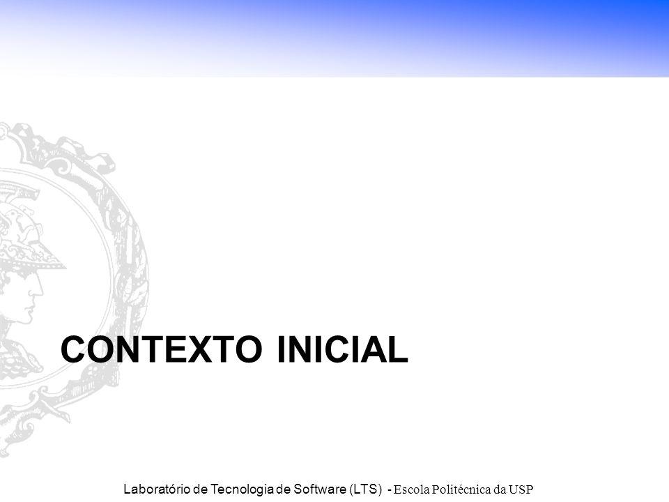 Laboratório de Tecnologia de Software (LTS) - Escola Politécnica da USP CONTEXTO INICIAL