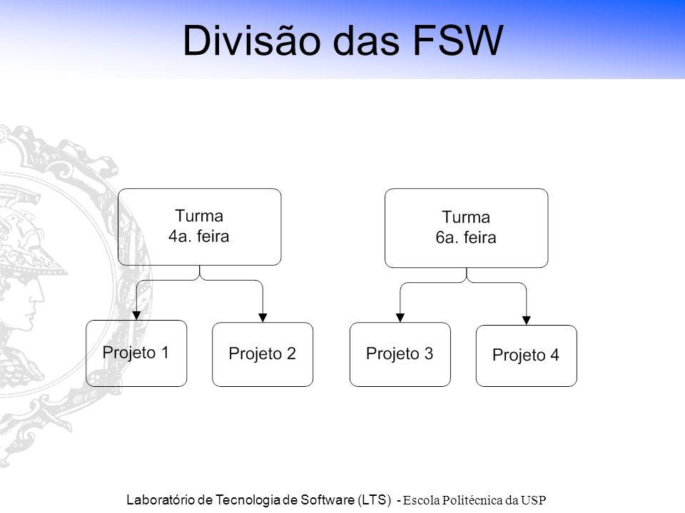 Laboratório de Tecnologia de Software (LTS) - Escola Politécnica da USP Divisão das FSW