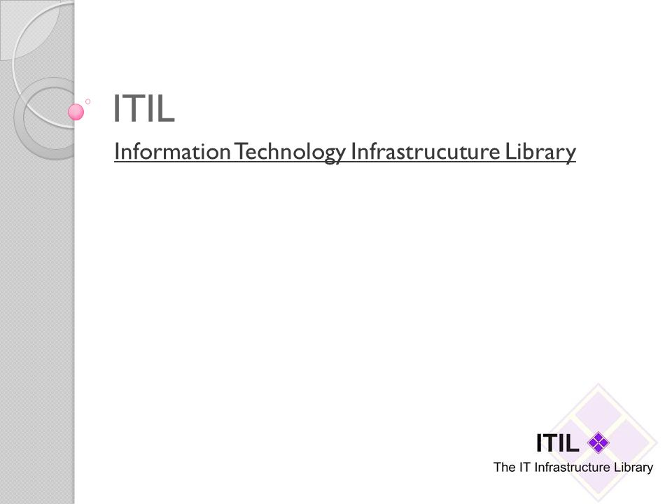 ITIL Information Technology Infrastrucuture Library