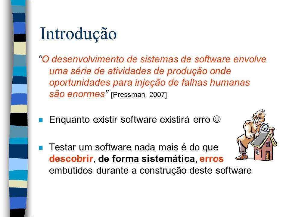 Inspeção de Software n Inspeção de software é um tipo particular de revisão que pode ser aplicado a todos os artefatos de software e possui um processo de detecção de defeitos rigoroso e bem definido Inspeções de Software nos Diferentes Artefatos