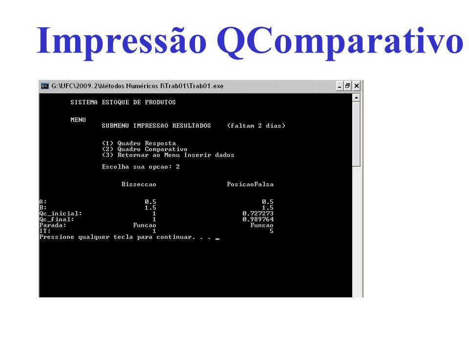 Impressão QComparativo