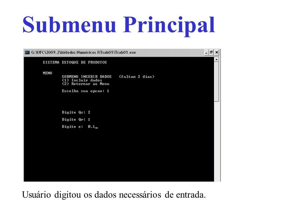 Submenu Principal