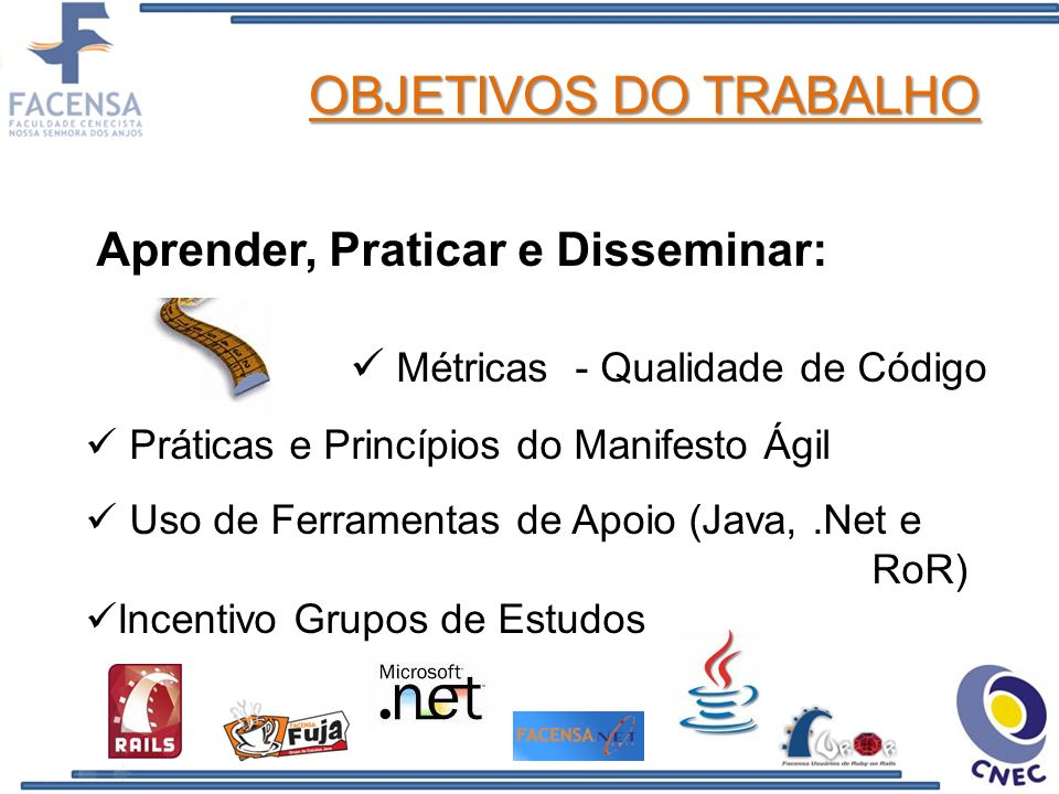 REFERENCIAL TEÓRICO Modelos de Qualidade de Software (KOSCIANSKI,2006) Modelos de Qualidade de Software (KOSCIANSKI,2006) Métricas e Ferramentas Métricas e Ferramentas de Apoio à Qualidade de Apoio à Qualidade Métodos Ágeis Métodos Ágeis (MANIFESTO,2008) (MANIFESTO,2008) (LANZA,2004) e (TIAN, 2005)