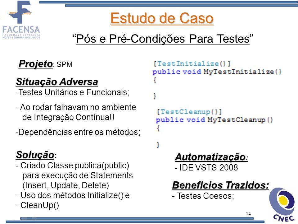 Estudo de Caso SPM (Social Program Management) http://code.google.com/p/spm-net-br 15