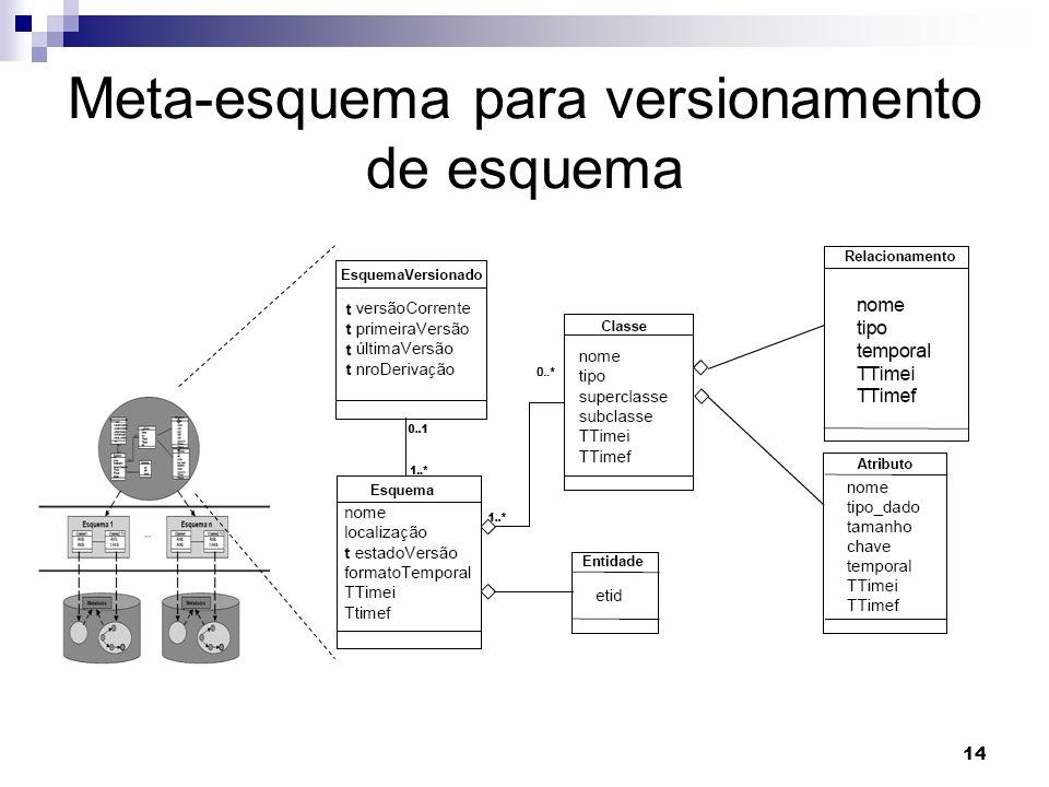 14 Meta-esquema para versionamento de esquema