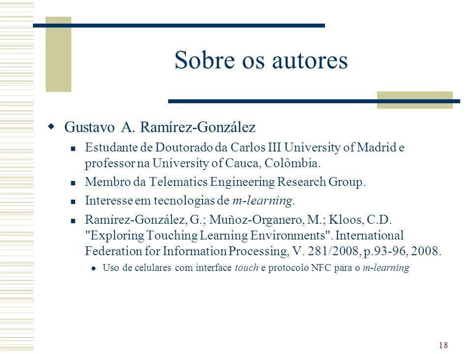 Sobre os autores Gustavo A.