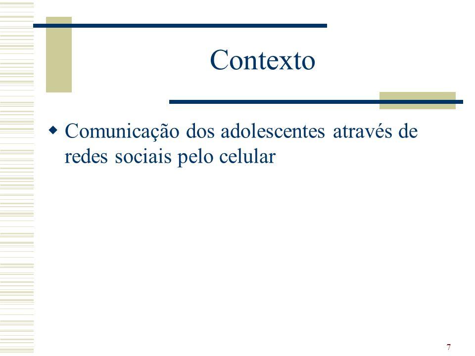 Contexto Comunicação dos adolescentes através de redes sociais pelo celular 7