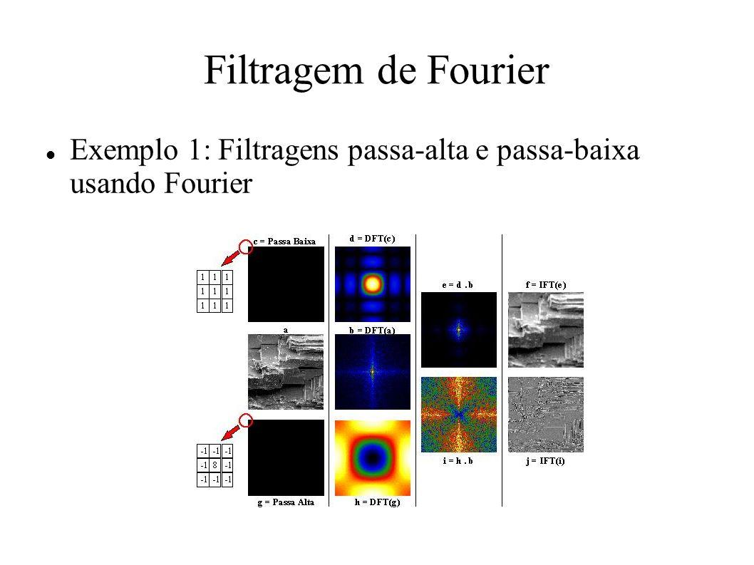 Filtragem de Fourier Exemplo 1: Filtragens passa-alta e passa-baixa usando Fourier
