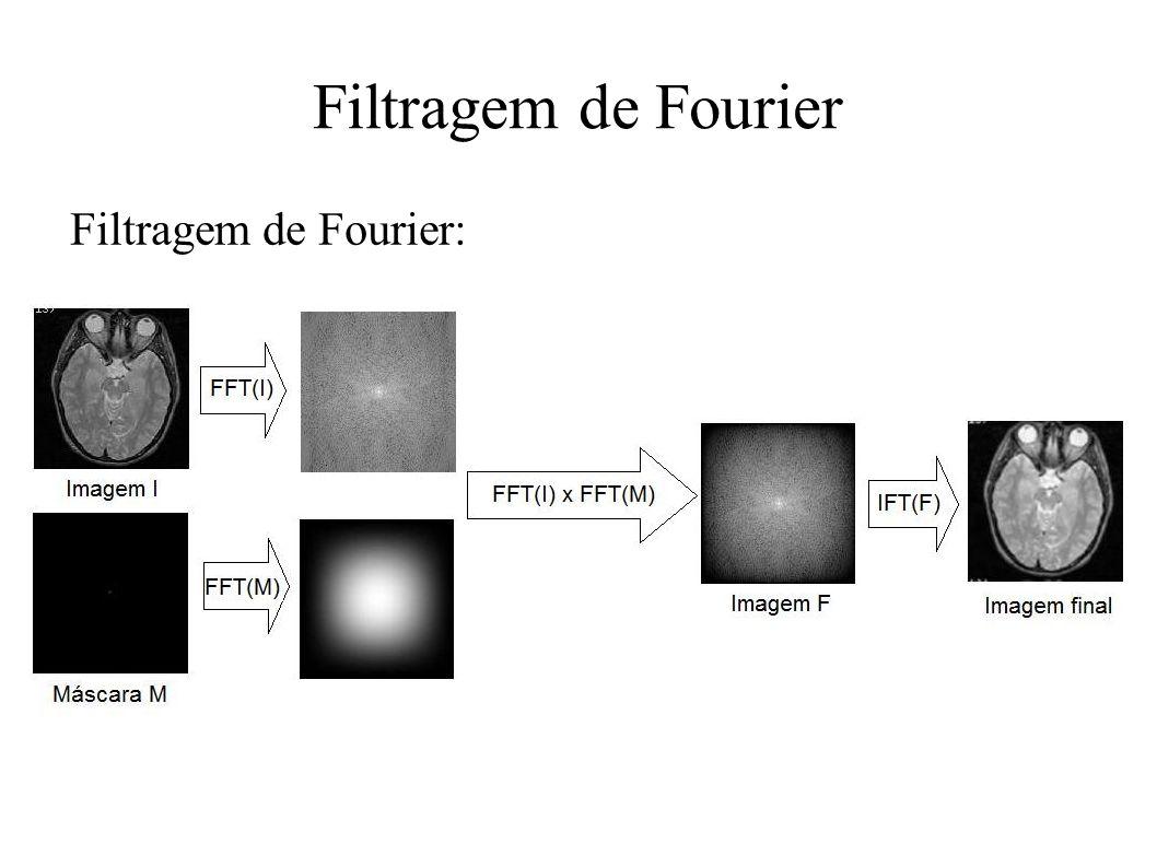 Filtragem de Fourier Filtragem de Fourier: