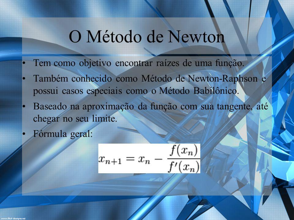O Método Quasi-Newton Um dos defeitos do Método de Newton é que muitas das aproximações dele são inconvenientes, tornando o custo computacional muito elevado.