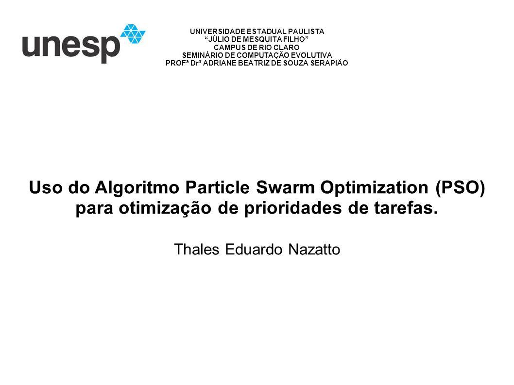 Uso do Algoritmo Particle Swarm Optimization (PSO) para otimização de prioridades de tarefas.