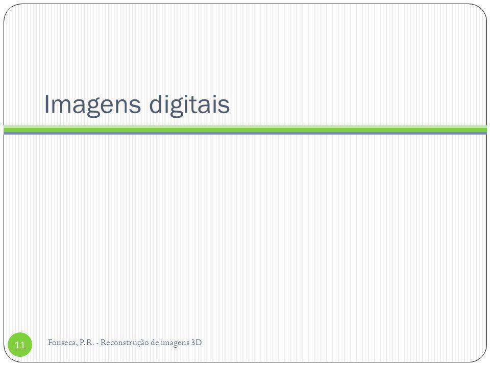 Imagens digitais Fonseca, P.R. - Reconstrução de imagens 3D 11