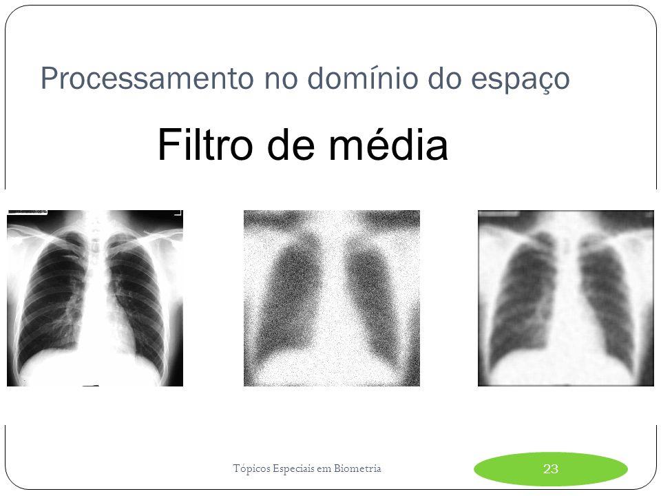 Processamento no domínio do espaço Tópicos Especiais em Biometria23 Filtro de média
