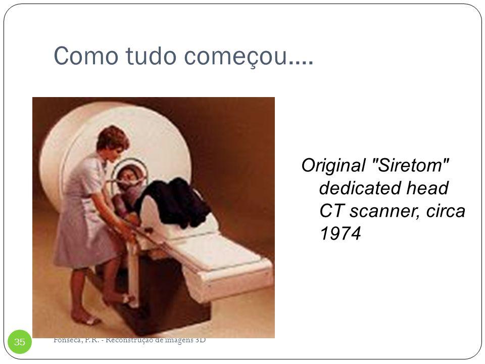 Como tudo começou.... Fonseca, P.R. - Reconstrução de imagens 3D 35 Original