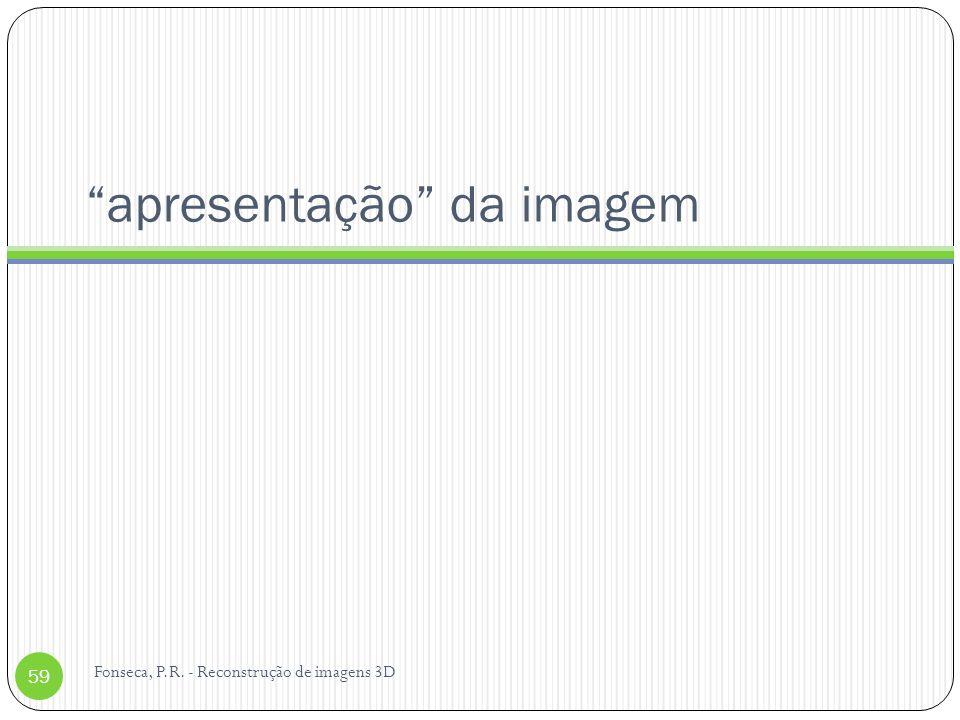 apresentação da imagem Fonseca, P.R. - Reconstrução de imagens 3D 59
