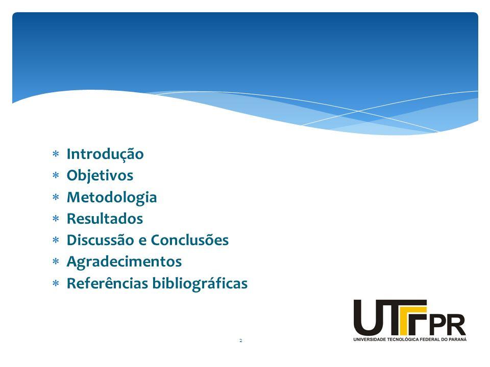 Introdução Objetivos Metodologia Resultados Discussão e Conclusões Agradecimentos Referências bibliográficas 2