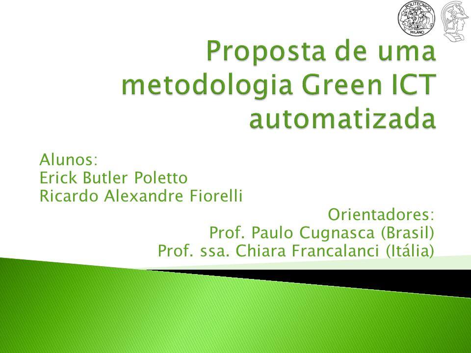 Introdução Objetivos e benefícios Trabalho na Itália Pesquisa e dados Análise dos resultados Trabalho na Poli Criação de uma metodologia verde Implementação e desenvolvimento