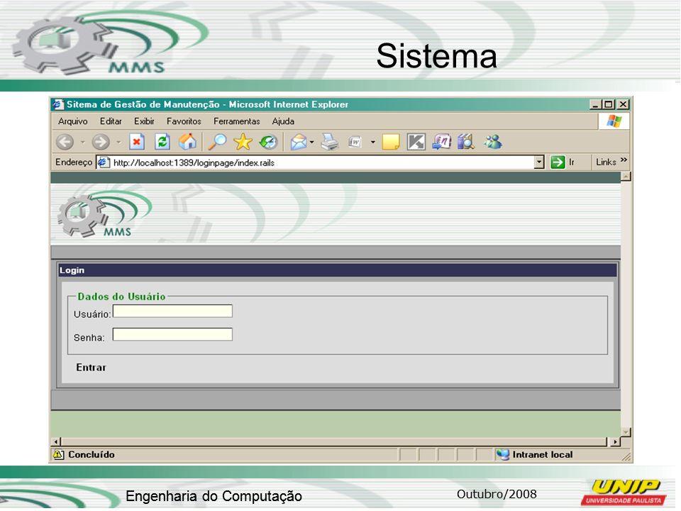 Outubro/2008 Engenharia do Computação Sistema Outubro/2008 Engenharia do Computação