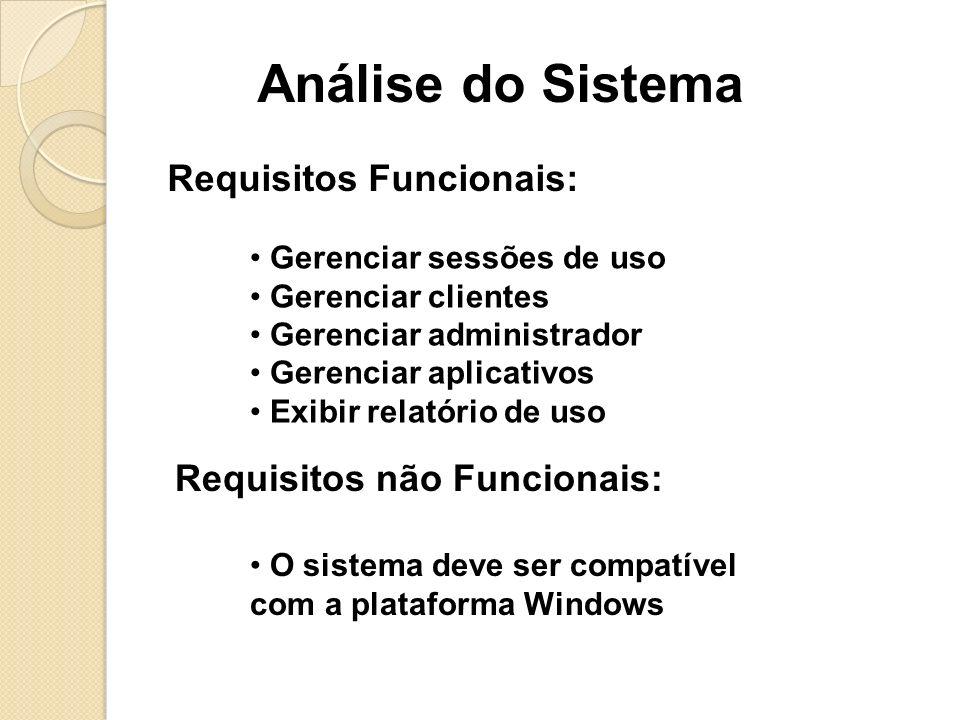 Caso de uso:Descrição: Abrir SessãoO cliente entra com o nome de usuário e senha para acessar o computador.