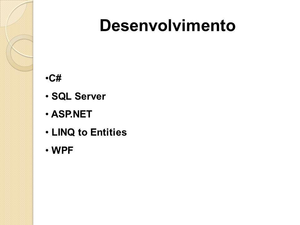 C# SQL Server ASP.NET LINQ to Entities WPF Desenvolvimento