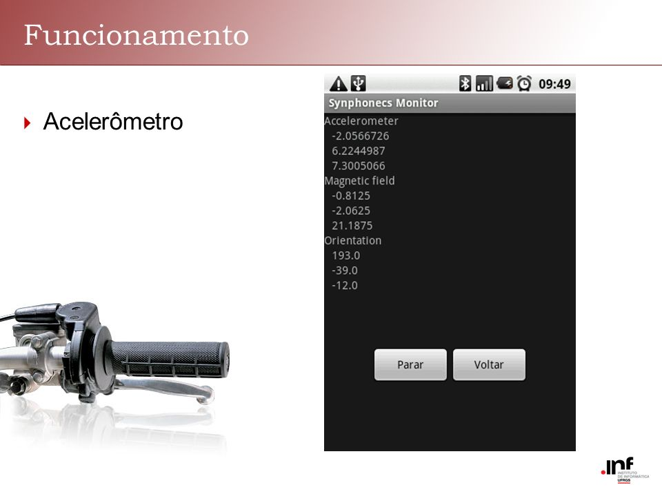 Funcionamento Acelerômetro