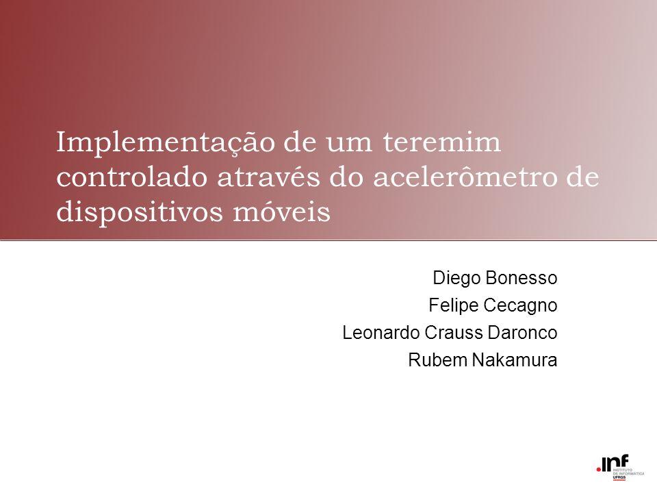 Implementação de um teremim controlado através do acelerômetro de dispositivos móveis Diego Bonesso Felipe Cecagno Leonardo Crauss Daronco Rubem Nakam