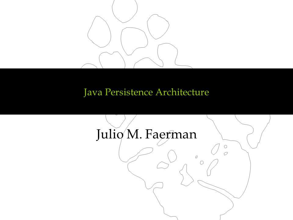 Java Persistence Architecture Julio M. Faerman