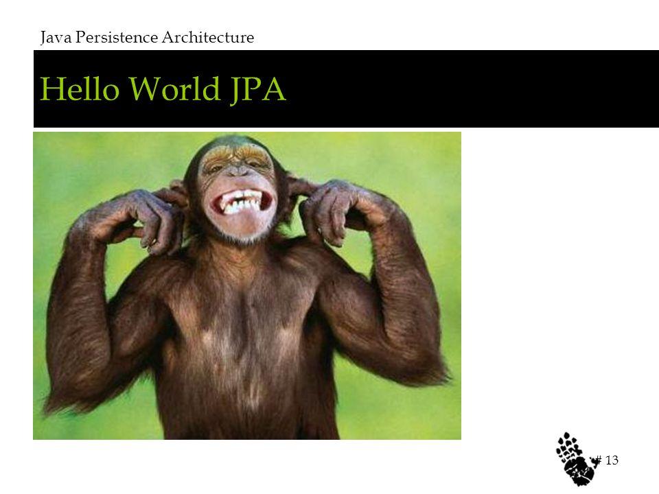 Hello World JPA Java Persistence Architecture # 13