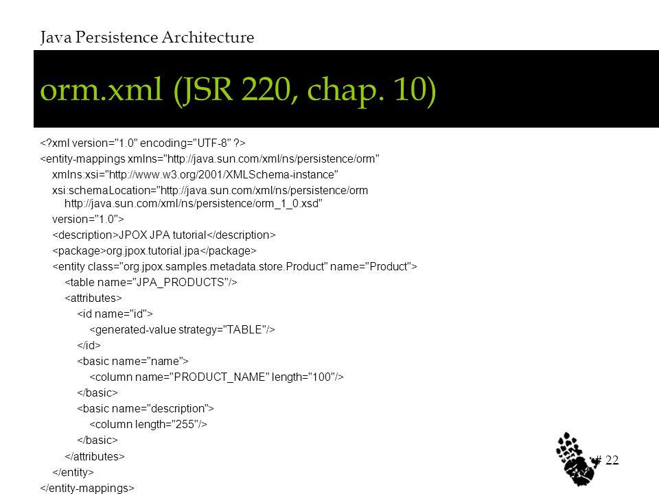orm.xml (JSR 220, chap.