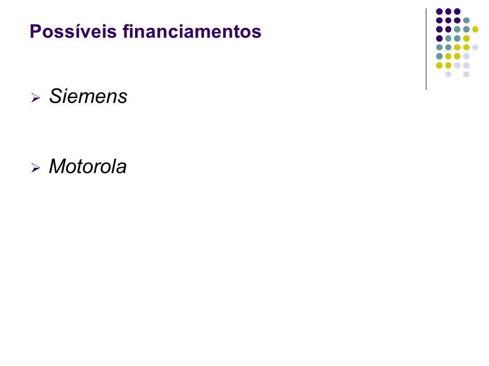 Possíveis financiamentos Siemens Motorola