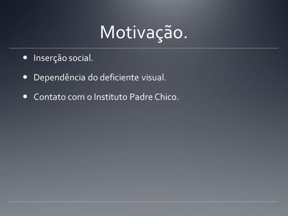Motivação. Inserção social. Dependência do deficiente visual. Contato com o Instituto Padre Chico.