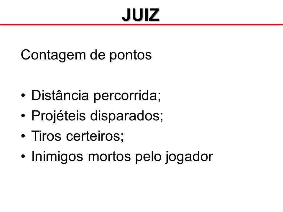 JUIZ Projéteis: –Instanciar e atribuir velocidade –Ao colidir com carro: causa dano e eventuais efeitos colaterais